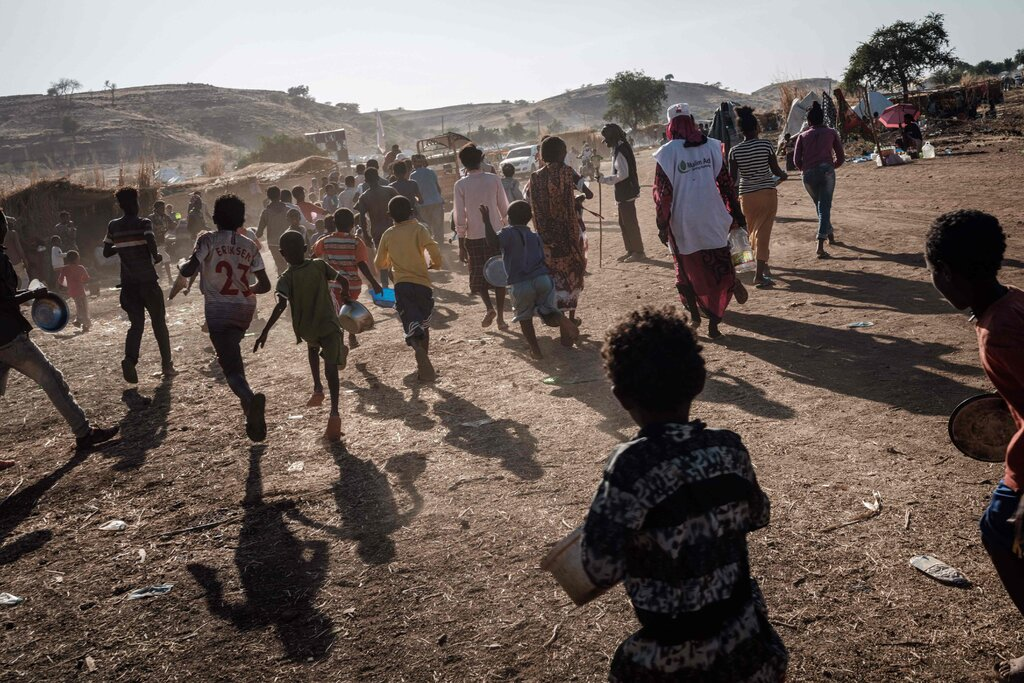 A refugee camp in Sudan for Ethiopians who fled conflict in their country's Tigray Region.Credit...Yasuyoshi Chiba/Agence France-Presse — Getty Images